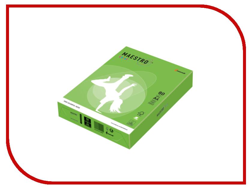Бумага Maestro Color A4 80g/m2 500 листов Green MA42 110218<br>