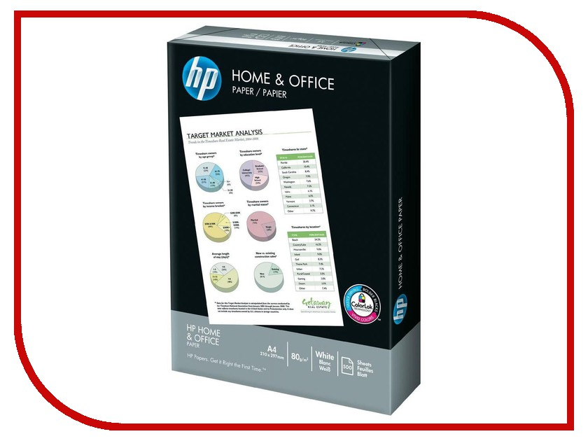 Бумага HP Home&Office A4 класс C+ 80г/м2 500 листов