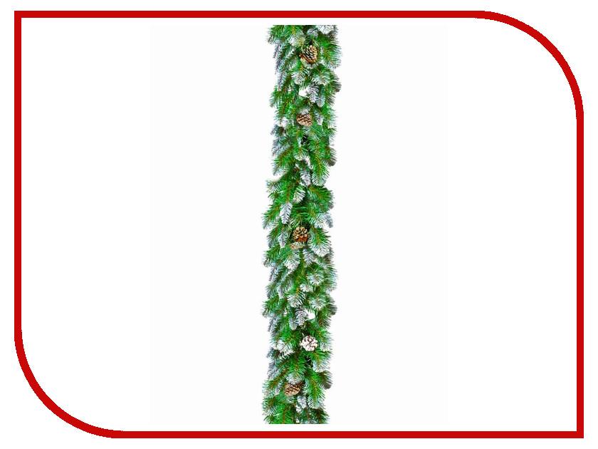Хвойный декор Triumph Tree Императрица с шишками 270x30cm Заснеженная