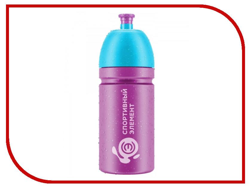 Бутылка Спортивный Элемент S24-500 500ml Purple-Blue бутылка спортивный элемент s52 2200 2 2l биотит