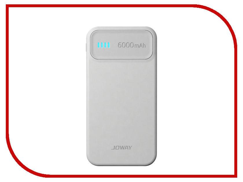 Аккумулятор Joway JP61 6000 mAh White-Grey<br>