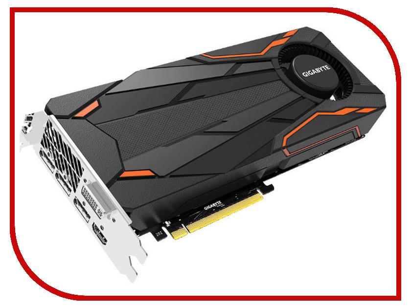 Видеокарта GigaByte GeForce GTX 1080 Turbo 1657Mhz PCI-E 3.0 8192Mb 10010Mhz 256 bit DVI HDMI HDCP GV-N1080TTOC-8GD gv n1070g1 gaming 8gd gigabyte
