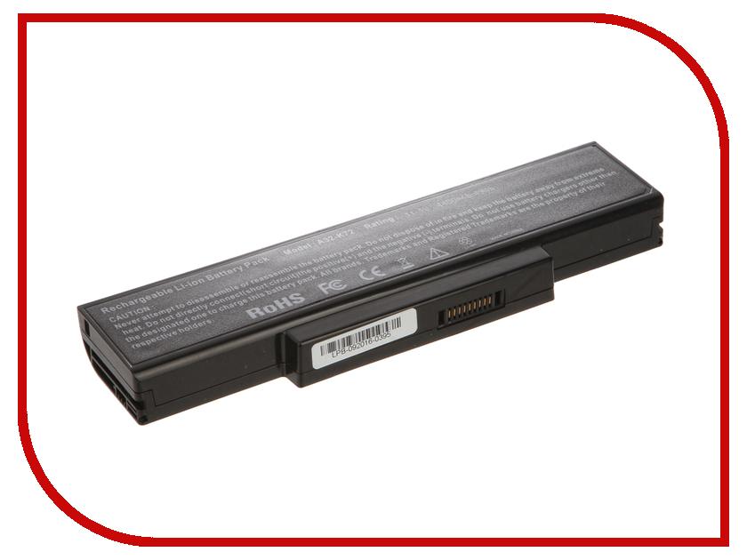 Аккумулятор 4parts LPB-K72 для ASUS K72/N71/N73/X72/F2/F3/A9 Series 10.8V 4400mAh аналог PN: A32-K72/A32-N71/A32-F3<br>