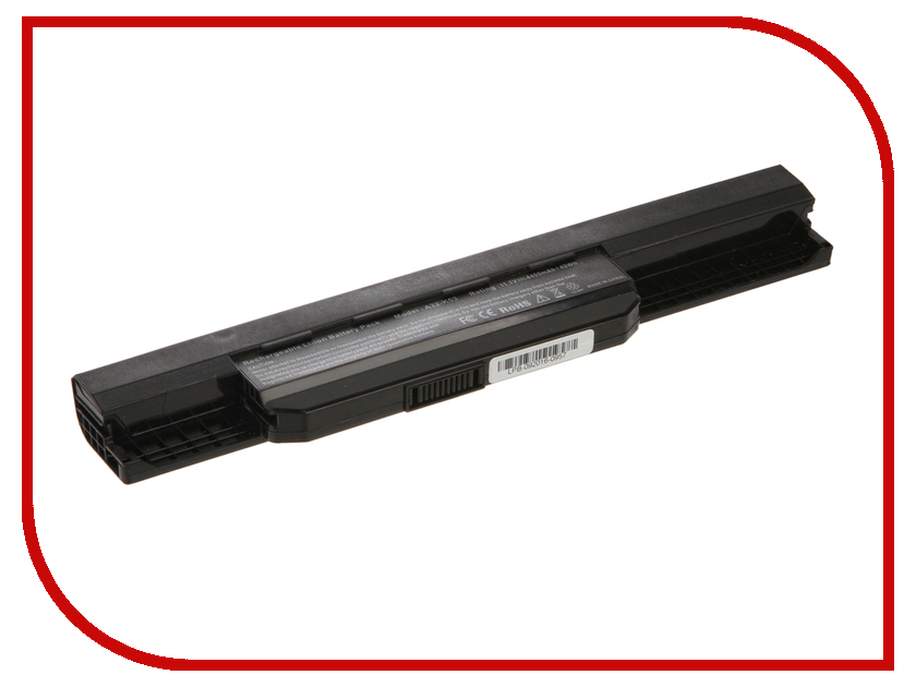 Аккумулятор 4parts LPB-K53 для ASUS K53/A43/A53/K43/X43/X44/X53/X54 Series 10.8V 4400mAh аналог PN: A32-K53/A42-K53/A43EI241SV us standard touch remote control light switch 2gang1way black pearl crystal glass wall switch with led indicator mg us01rc