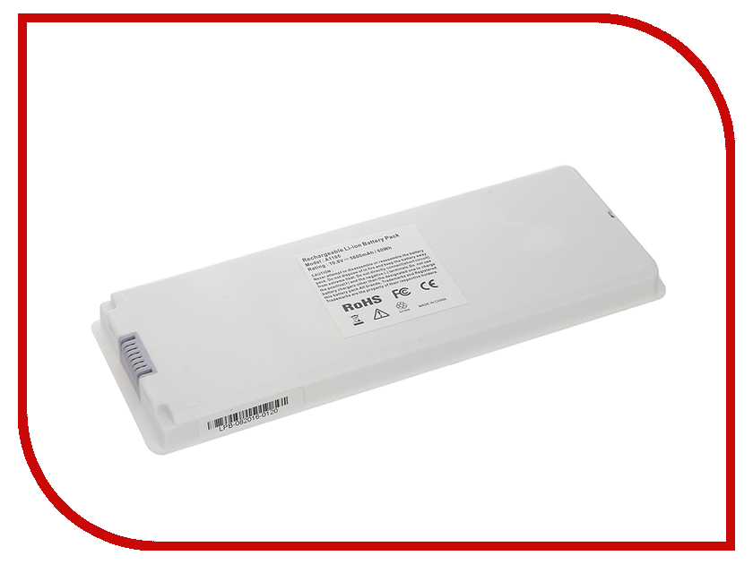Аккумулятор 4parts LPB-AP1185 White для APPLE MacBook Pro 13 Series 10.8V 5600mAh аналог PN: A1185/MA561LL/A / MA561G/A