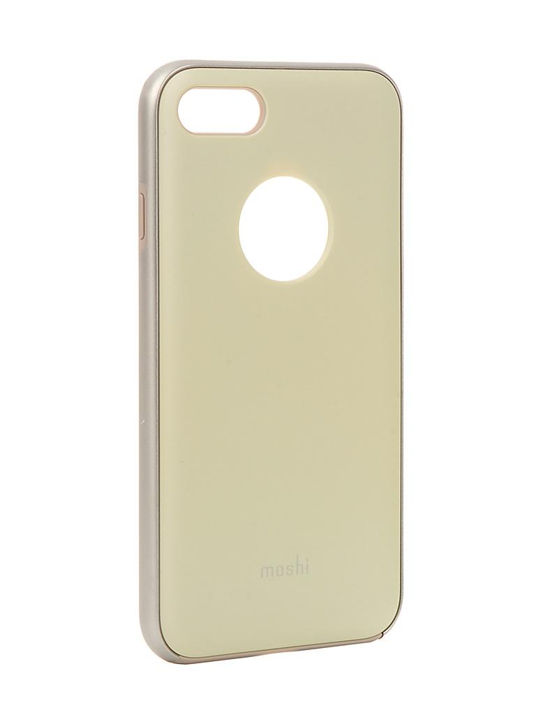 Аксессуар Чехол Moshi для APPLE iPhone 7 iGlaze Mellow Yellow 99MO088721 аксессуар чехол moshi для apple iphone x xs iglaze pearl white 99mo101101