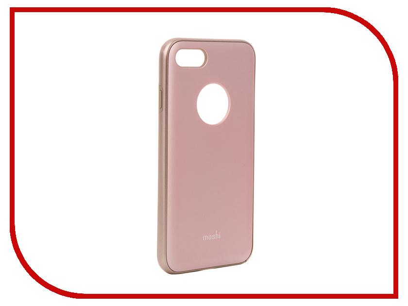 Аксессуар Чехол Moshi iGlaze для APPLE iPhone 7 Blush Pink 99MO088301 lauren moshi lauren moshi sf 153393