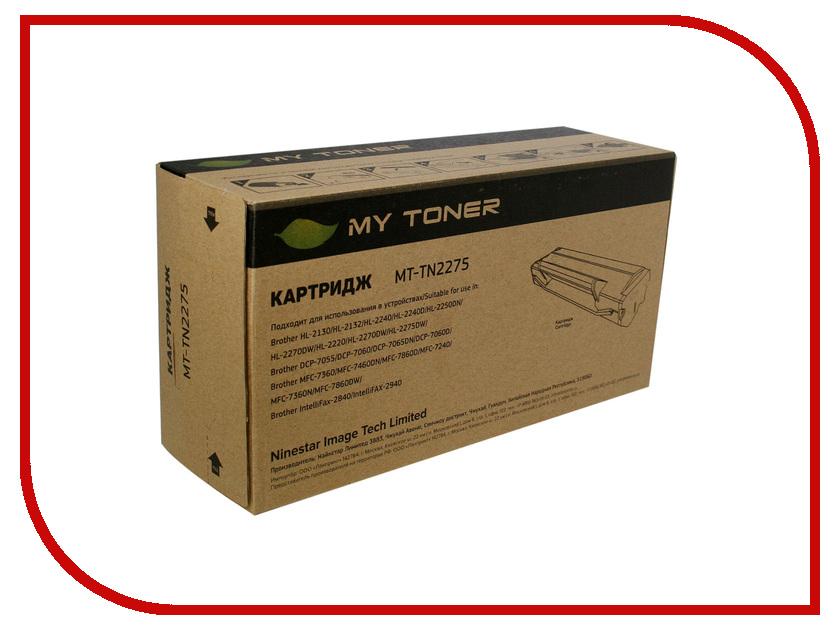 Картридж MyToner MT-TN2275 Black для Brother HL 2240 / 2240R / 2250 / 225