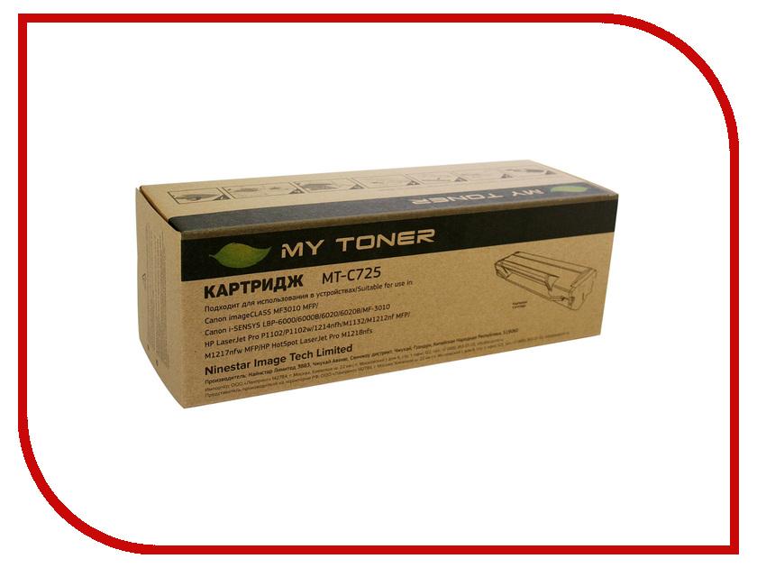 Картридж MyToner MT-C725 Black для Canon i-Sensys 6000/6000b<br>