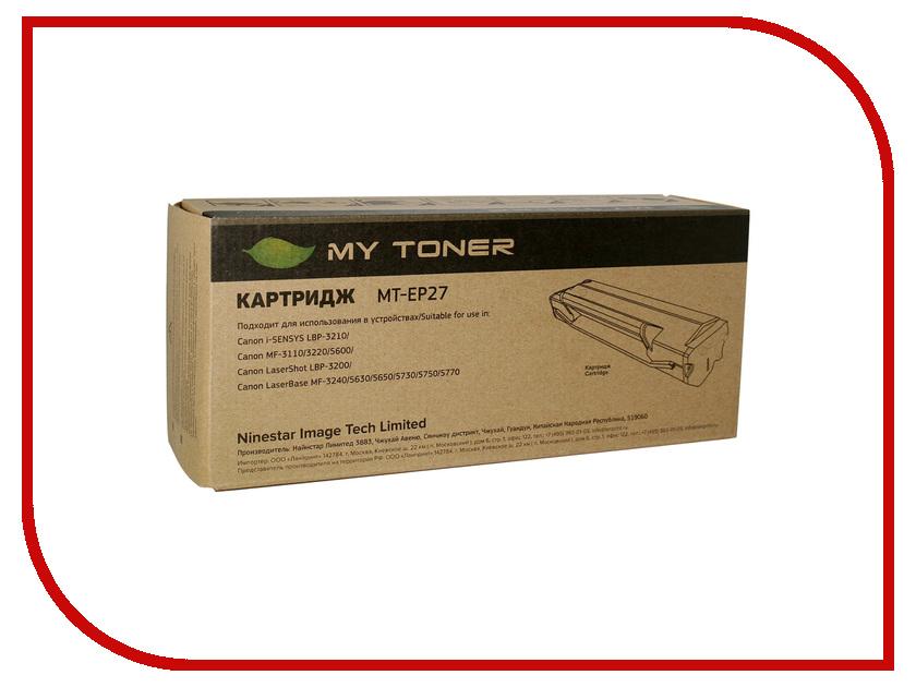 Картридж MyToner MT-EP27 Black для Canon LBP3200/MF3220/3110/3200 картридж mytoner mt q7553x black для hp p2014 p2015 m2727