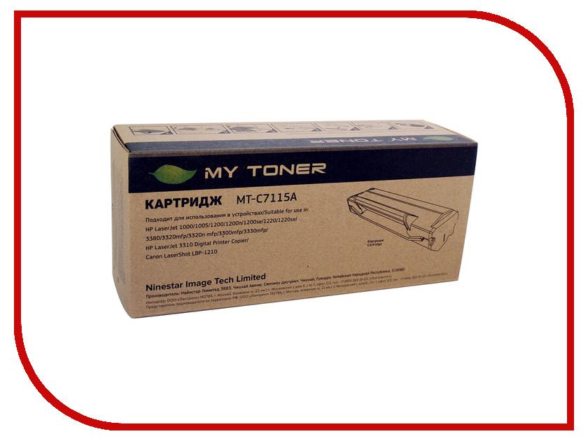 Картридж MyToner MT-C7115A Black для HP LJ 1200/1220/3300/3380<br>