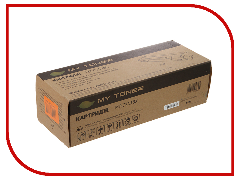 Картридж MyToner MT-C7115X Black для HP LJ 1200/1220/1300/3300/3380<br>