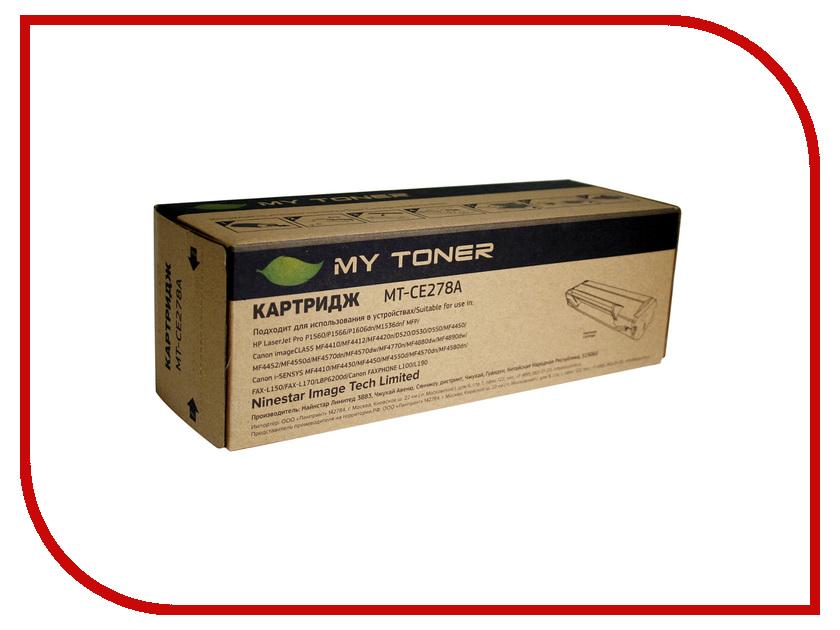 Картридж MyToner MT-CE278A Black для HP LJ P1566/P1606w<br>