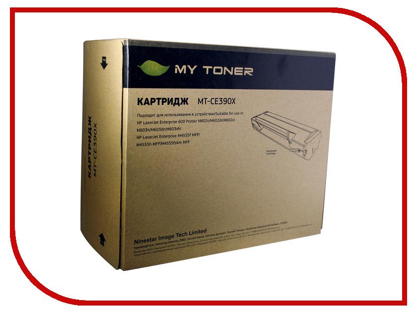 Картридж MyToner MT-CE390X Black для HP LJ M4555<br>
