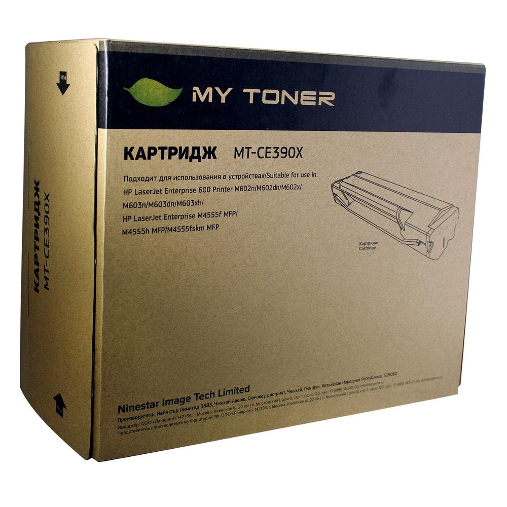 Картридж MyToner MT-CE390X Black для HP LJ M4555