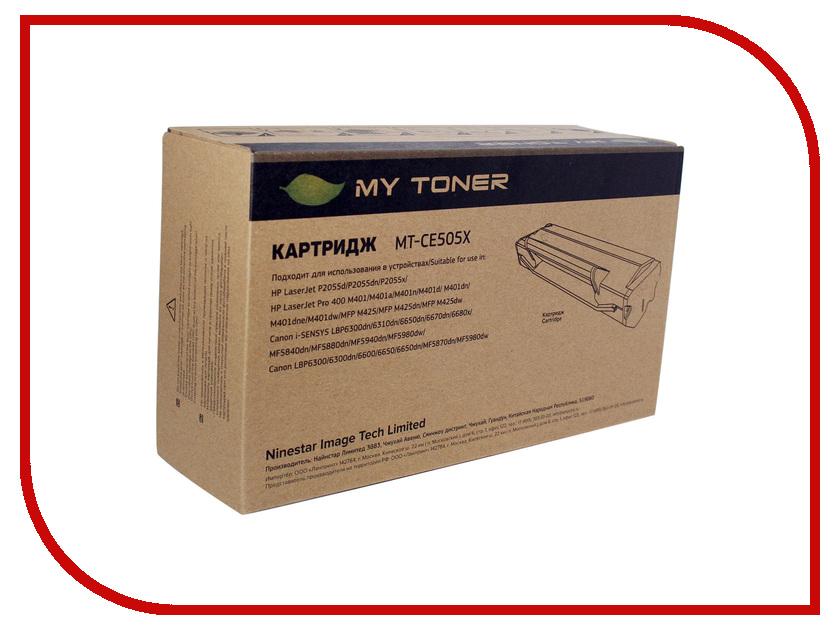 Картридж MyToner MT-CE505X Black для HP LJ 2055 sakura 719h ce505x crg719h