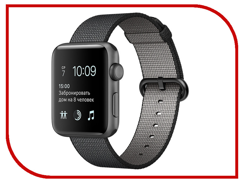 Умные часы APPLE Watch Series 2 38mm Grey Space with Black Band MP052RU/A