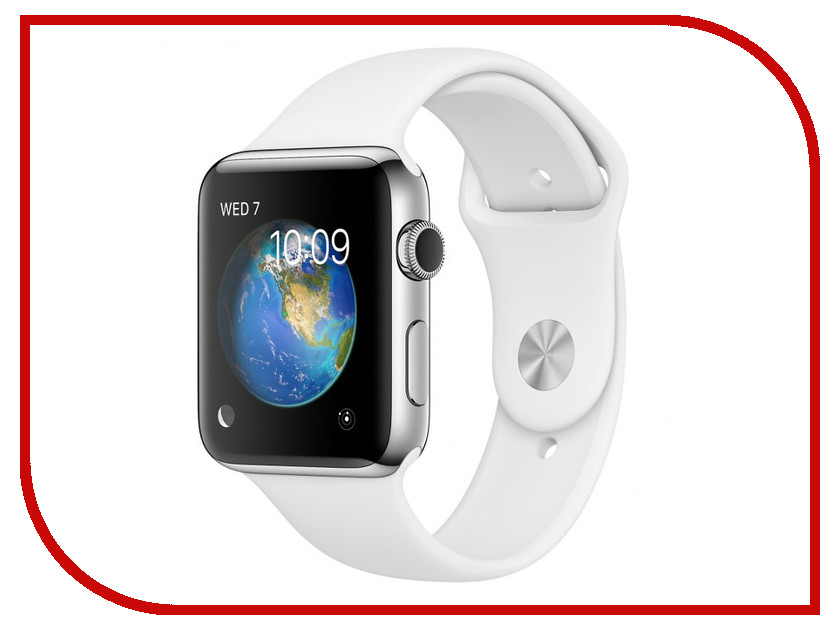 Умные часы APPLE Watch Series 2 42mm with White Sport Band MNPR2RU/A