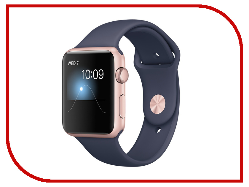 Zakazat.ru: Умные часы APPLE Watch Series 2 42mm Pink Gold with Dark Blue Band MNPL2RU/A