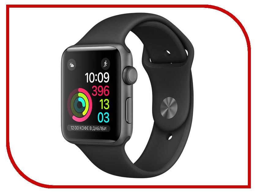 Умные часы APPLE Watch Series 2 42mm Grey Space with Black Sport Band MP062RU/A<br>