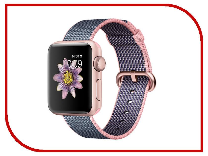 Умные часы APPLE Watch Series 2 38mm Pink Gold with Light Pink-Dark Blue Band MNP02RU/A
