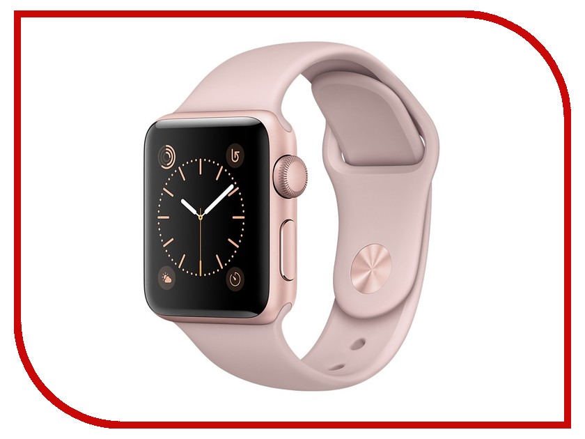 Умные часы APPLE Watch Series 2 38mm Pink Gold with Pink Sand Sport Band MNNY2RU/A смарт часы apple watch series 2 38mm