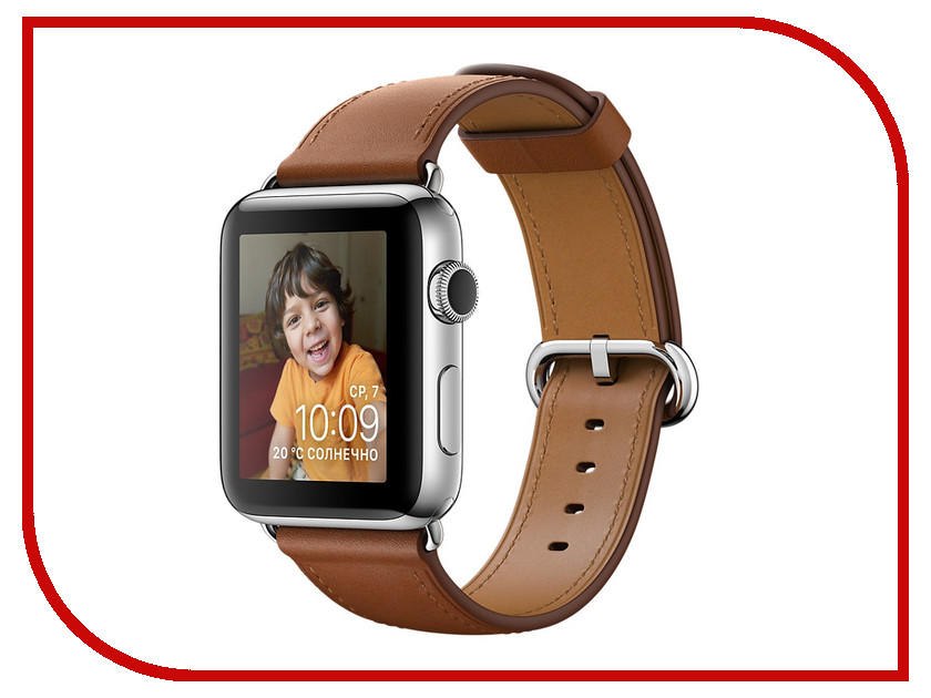 Умные часы APPLE Watch Series 2 42mm with Gold Brown Classic Buckle Band MNPV2RU/A