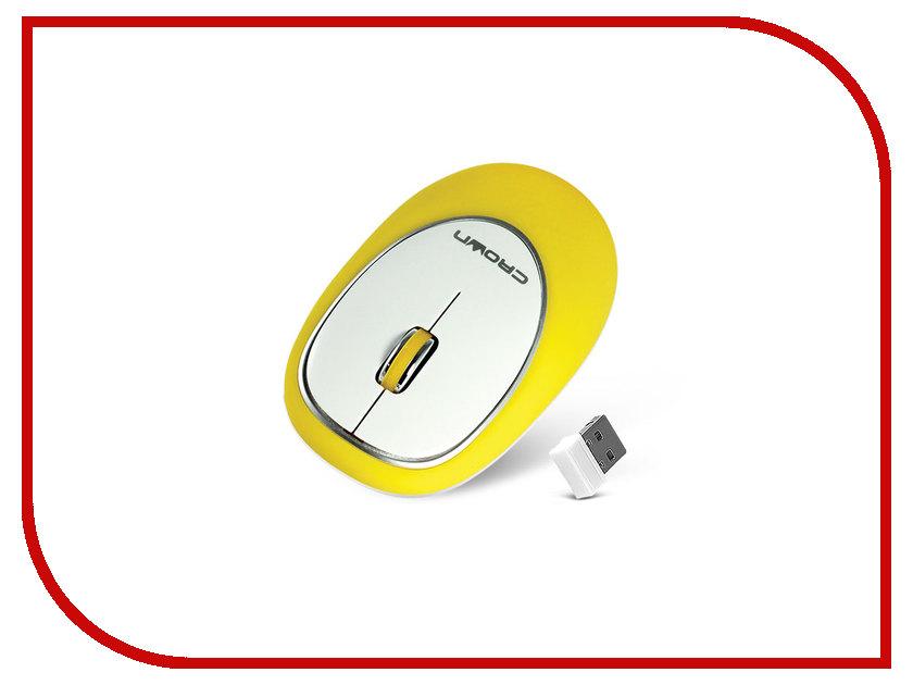 Мышь беспроводная Crown CMM-931W Yellow