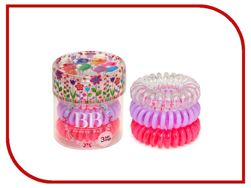 Резинка для волос Beauty Bar 820640 набор Детский Розовый, Сереневый, Прозрачный с блестками