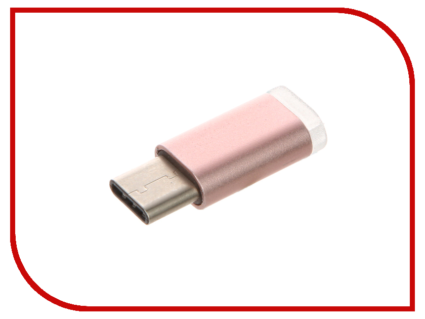 Аксессуар BROSCO MicroUSB - Type-C Adapter Rose Gold ADPTR-TYPE-C-MUSB-ROSEGOLD<br>