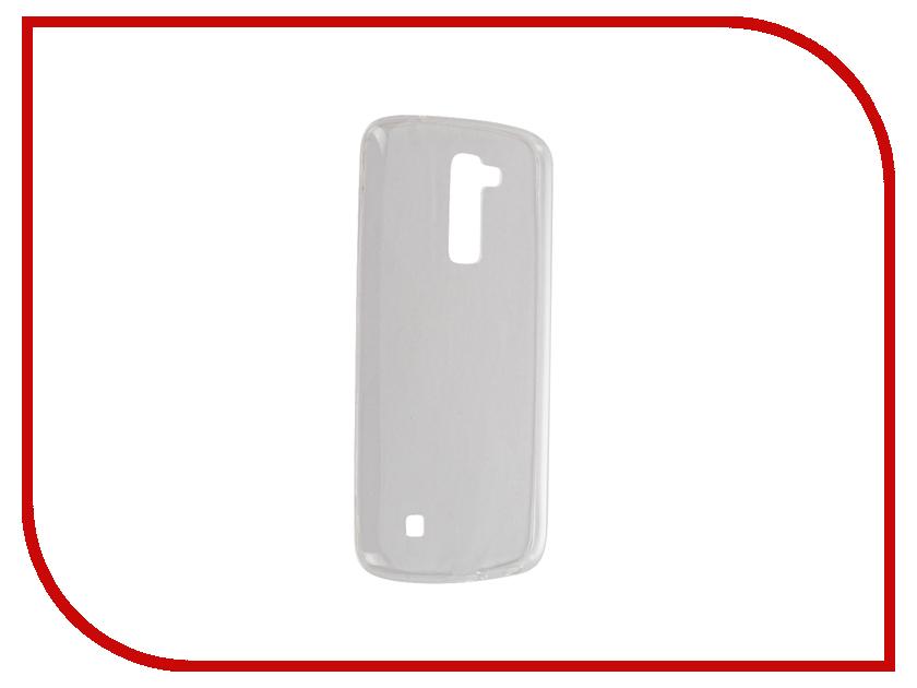 Аксессуар Чехол LG K10 BROSCO Transparent LG-K10-TPU-TRANSPARENT аксессуар защитное стекло lg k10 k10 lte onext 41055