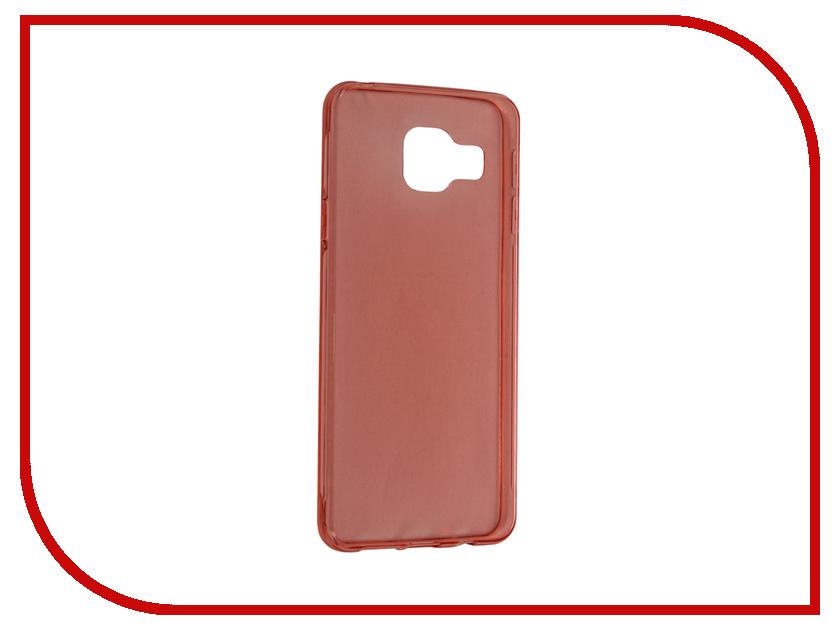 Аксессуар Чехол Samsung Galaxy A3 2016 BROSCO Red SS-A3-TPU-RED<br>