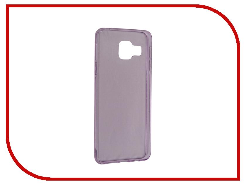 Аксессуар Чехол Samsung Galaxy A3 2016 BROSCO Purple SS-A3-TPU-PURPLE<br>