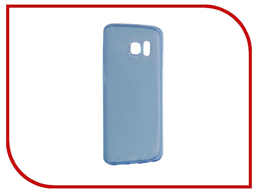Аксессуар Чехол Samsung Galaxy S6 Edge BROSCO Blue SS-S6E-TPU-BLUE<br>