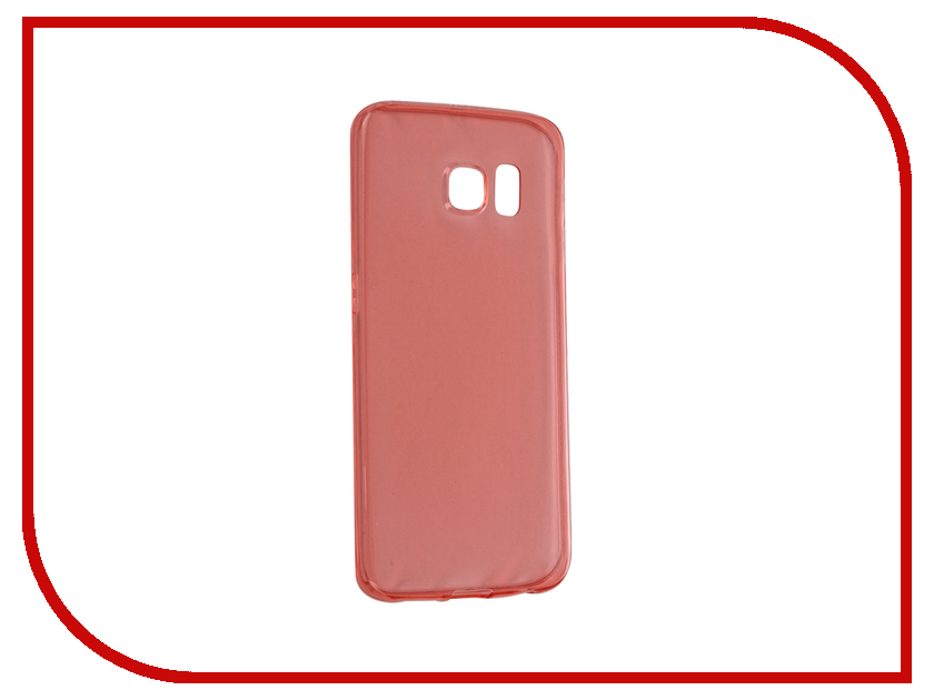 Аксессуар Чехол Samsung Galaxy S6 Edge BROSCO Red SS-S6E-TPU-RED<br>