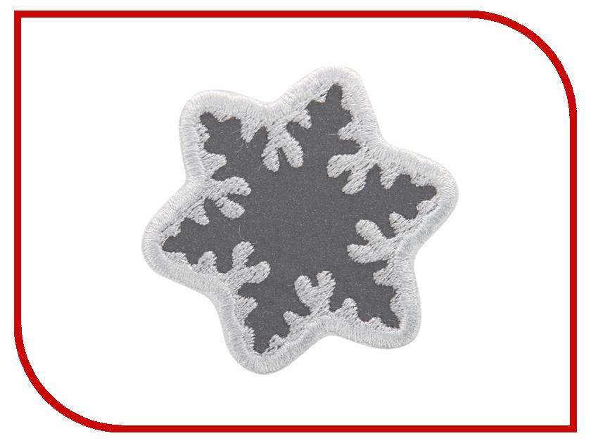 Светоотражатель Cova Термошеврон Снежинка White 55x55mm 333-044