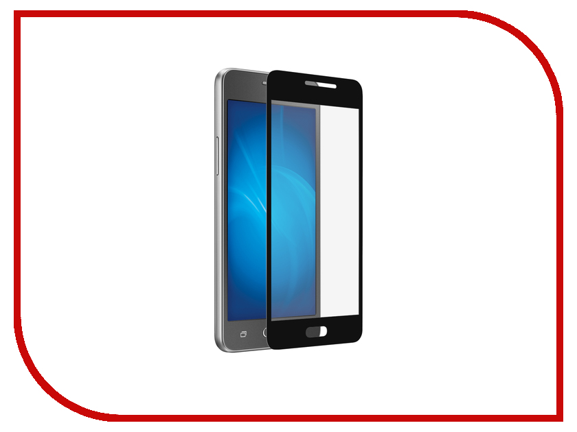 Аксессуар Закаленное стекло Samsung Galaxy J2 Prime / Grand Prime 2016 DF sColor-11 Black чехол с флипом для samsung galaxy j2 prime grand prime 2016 df sflip 11