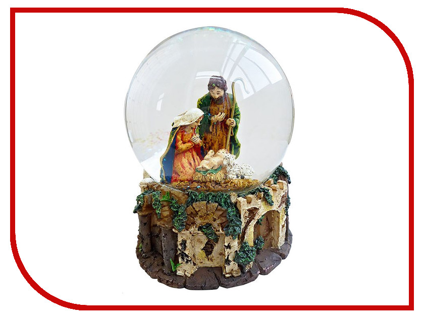 Снежный шар Crystal Deco Святое семейство 150311<br>