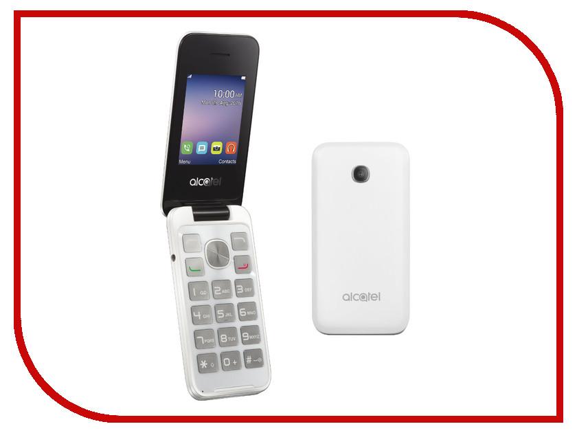 Сотовый телефон Alcatel 2051D Pure White мобильный телефон alcatel ot1020d 2sim pure white
