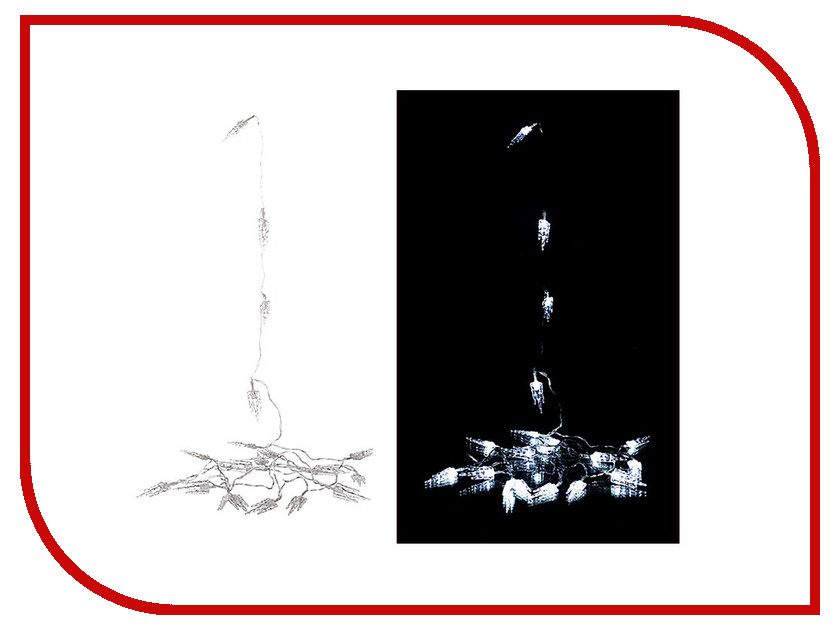 Гирлянда Lefard 20 LED 3m Cold White 857-007<br>