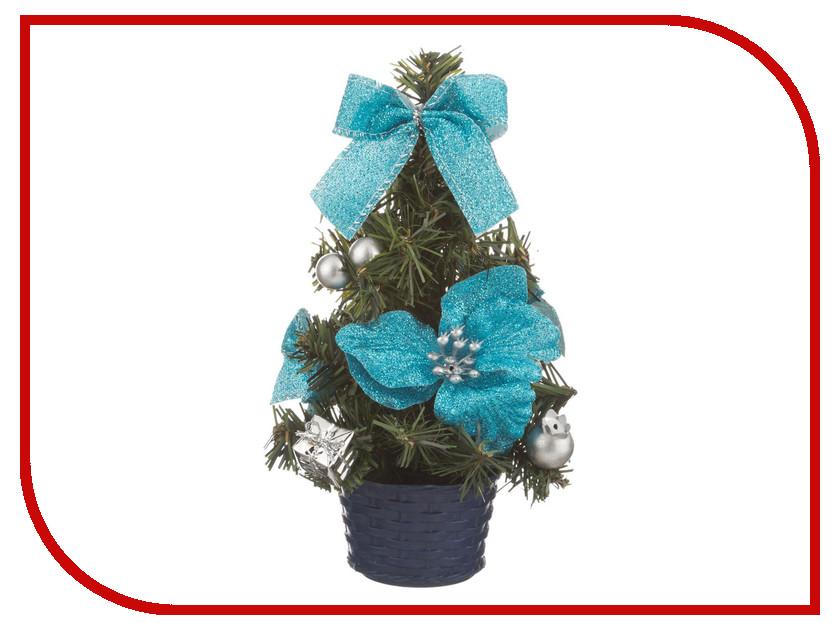 Искусственная Lefard с голубыми цветами 20cm 161-149
