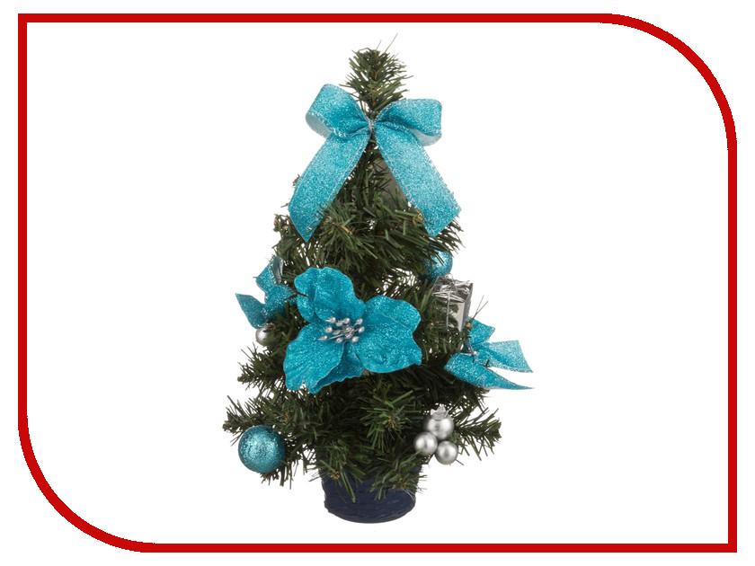 Искусственная Lefard с голубыми цветами 30cm 161-148