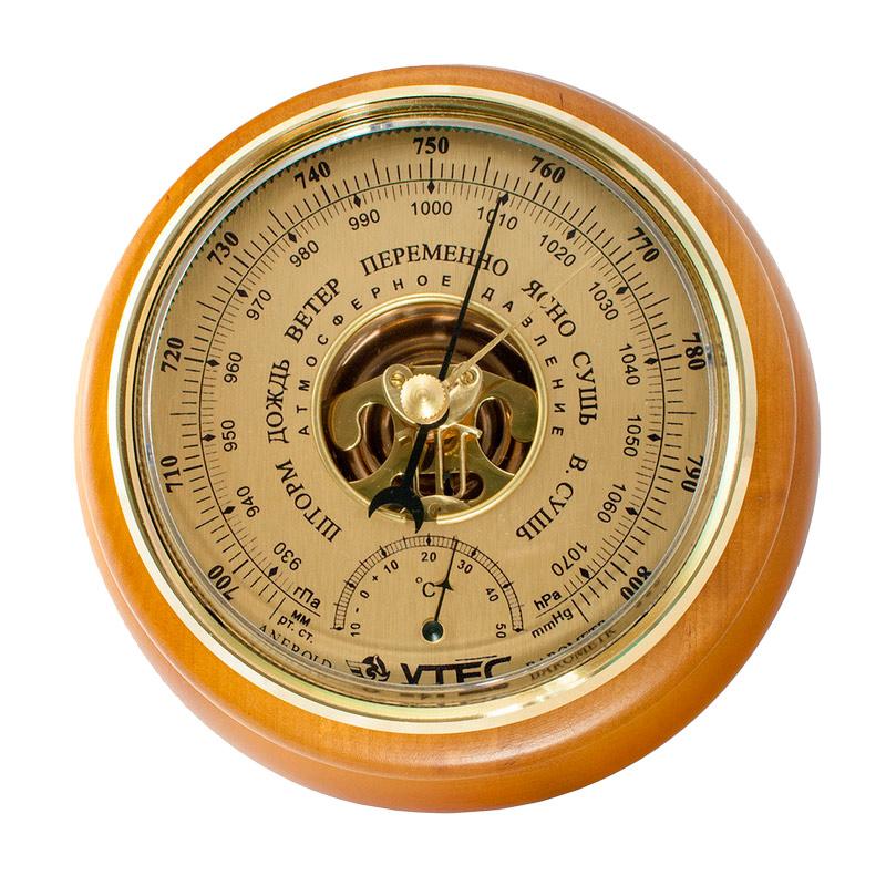 Барометр Утес БТК-СН-14 шлифованное золото