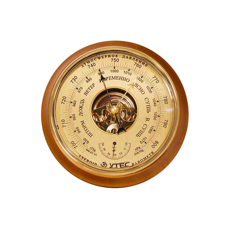 Барометр Утес БТК-СН-16 шлифованное золото