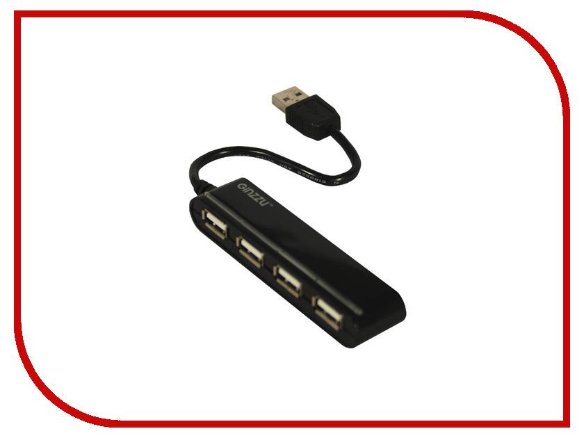 Хаб USB Ginzzu GR-434UB 4-ports<br>