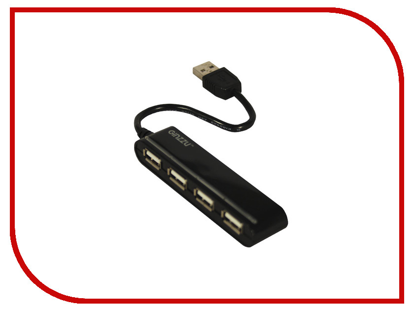 Хаб USB Ginzzu GR-434UB 4-ports 100 pcs d sub 15 pin male solder type plug adapter vga connector serial ports db15m