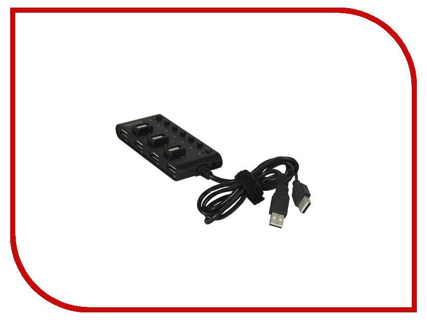 Хаб USB Ginzzu GR-487UAB 7-ports