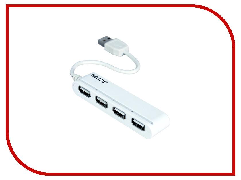 Хаб USB Ginzzu GR-434UW 4-ports<br>