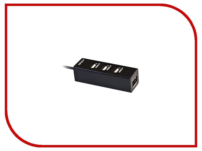 Хаб USB Ginzzu GR-474UB 4-ports<br>