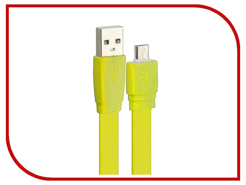 Аксессуар Pro Legend micro-USB 1m Yellow PL1314<br>